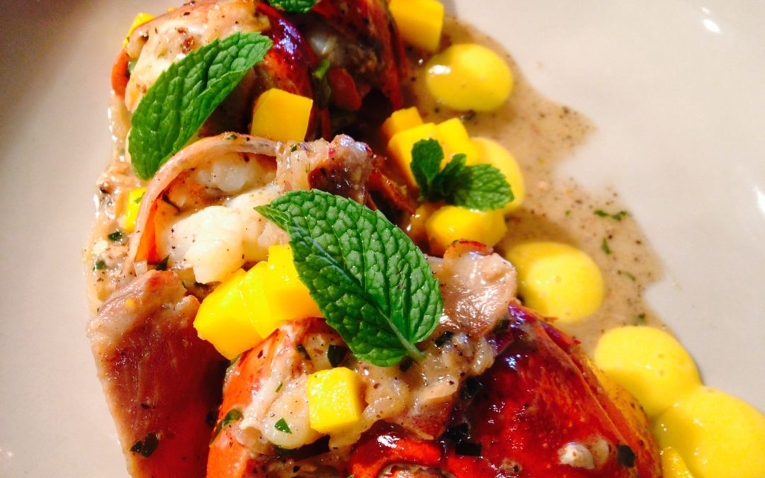 Isaac Bancaco: Kona Lobster with Black Pepper Butter and Mango Curd
