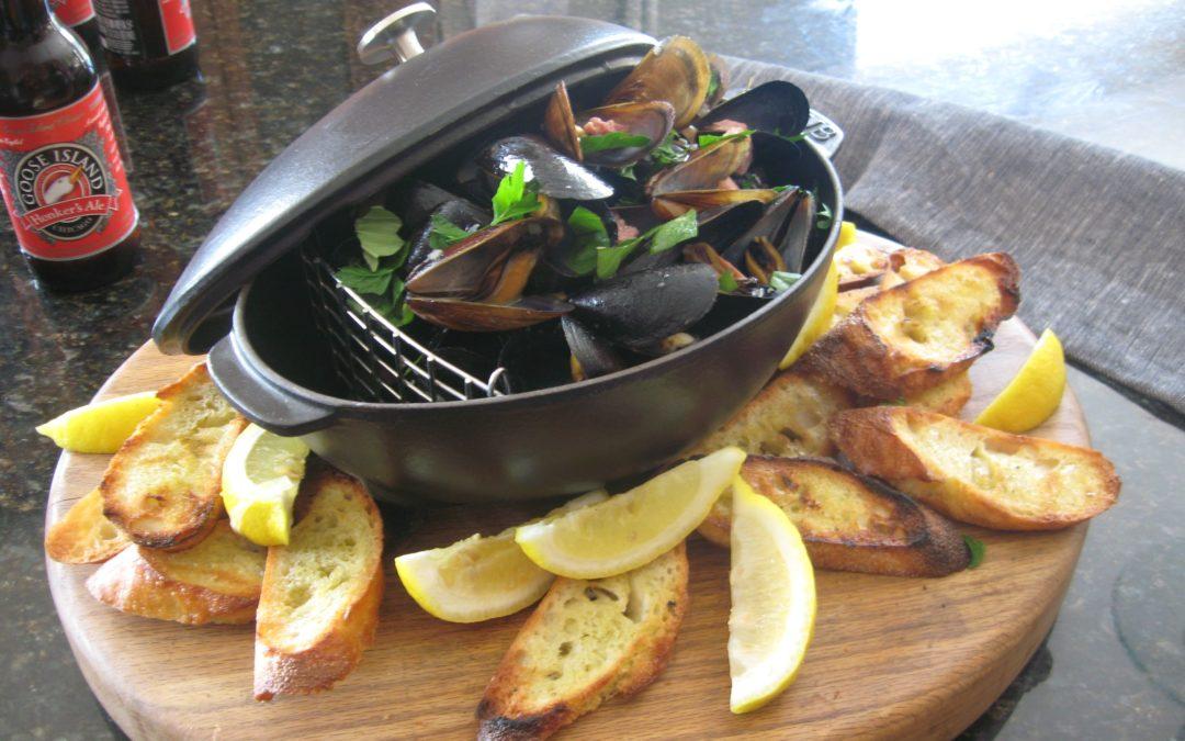 Rick Tramonto: Belgian Ale Braised Mussels