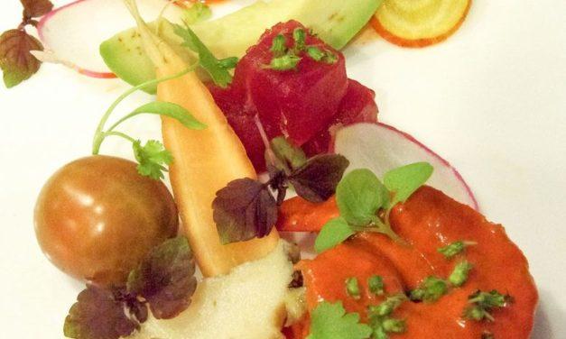 Alan Wong: Korean Chili Vinegar Kualoa Shrimp with Seafood and Local Vegetables