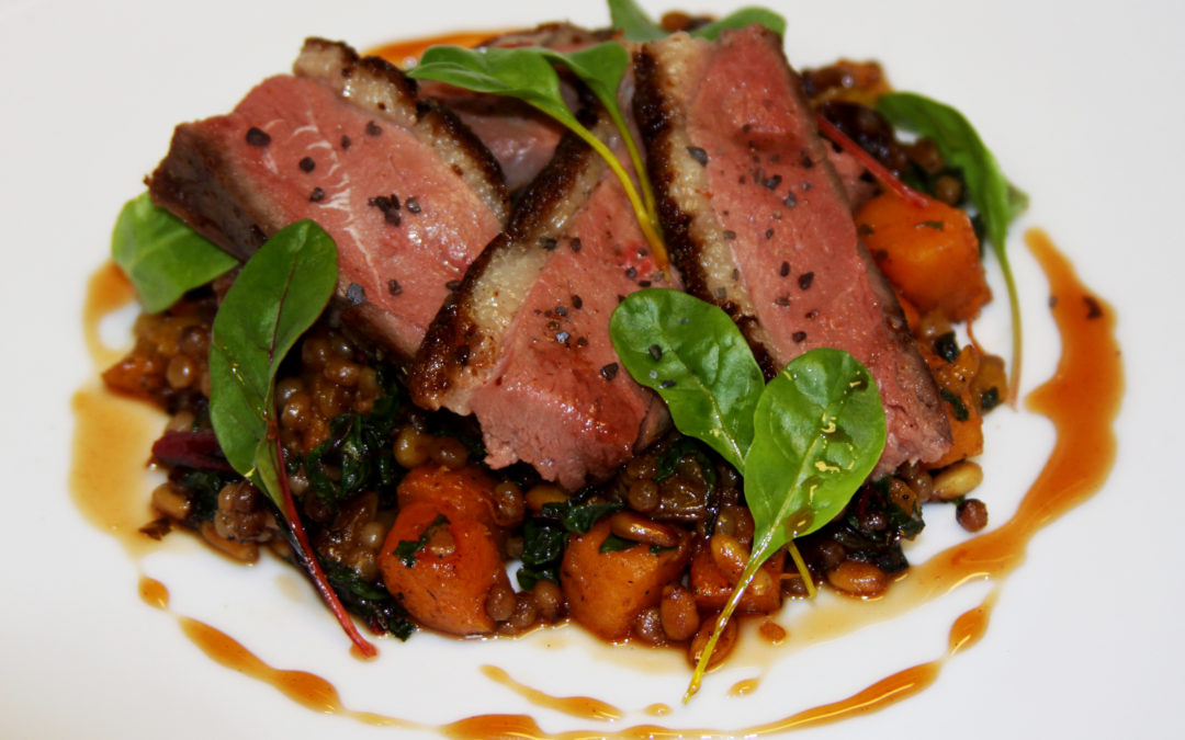 Michael Ginor: Seared Hudson Valley Duck Breast with Israeli Couscous