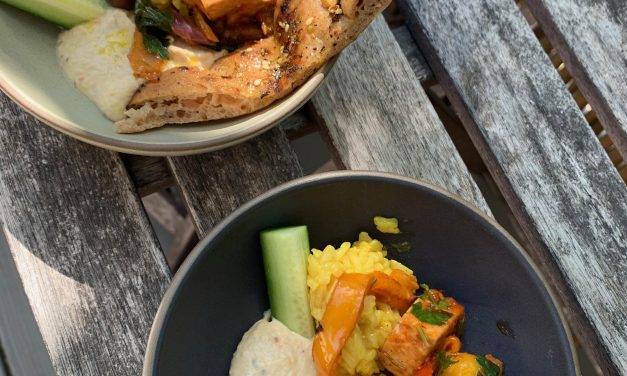 Elizabeth Falkner: Lebanese Inspired Chicken or Tofu with Hummus and Orange & Cinnamon Infused Brown Rice with Olives